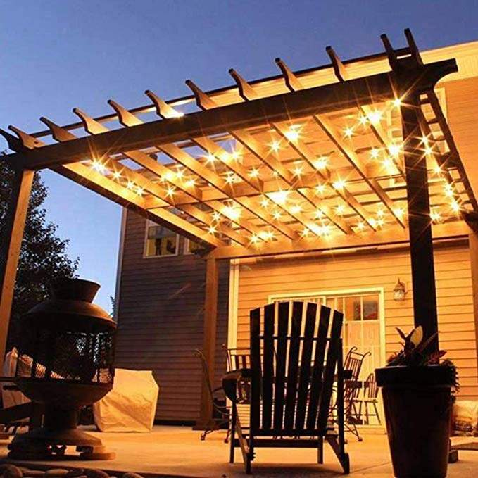 Dimmable Waterproof LED Outdoor String Lights - Hanging, 2W Edison Bulbs - 48Ft Commercial Lights for Decor for Patio, Backyard, Garden, Bistro¨C S14 Black - Warm White, with Dimmer, Complete Led String Lights Kit(48FT And  Dimmer)
