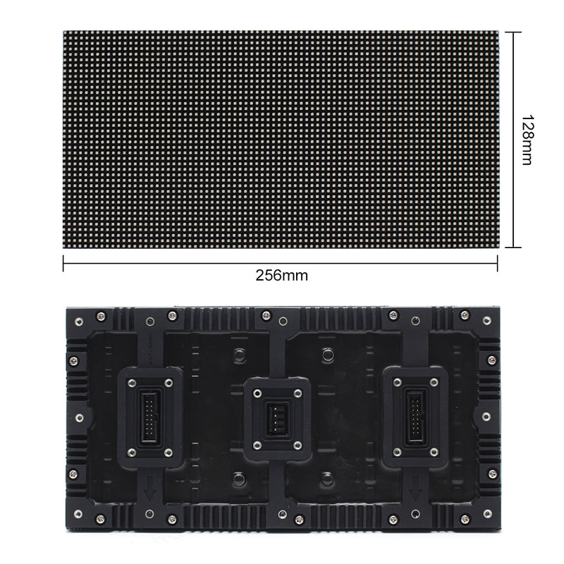 M-WF3.2 P3.2 (3.2mm) Outdoor Waterproof Flex LED Module Display, 3.2mm Pixel Pitch Full RGB LED Panel Screen in 256*128mm w/ 3200 dots 20 Scan 4500 Nits For Outdoor Display