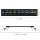 28.34'' Aquarium LED Light for Freshwater Fish Tank w/ Extendable Bracket, White Blue LED