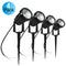 4 Pack 3W LED Landscape Lights Warm White 12V Waterproof Garden Pathway Lights Outdoor