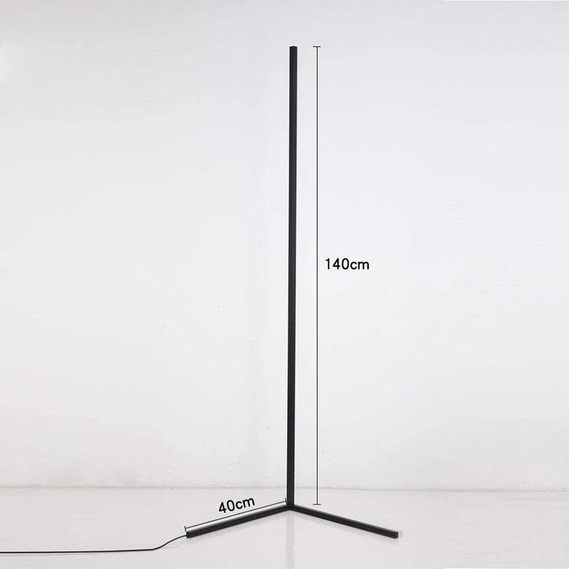 Free Shipping White Color Corner Floor Lamp Nordic Modern LED Floor Lamp Ambient Light w/ Foot Switch
