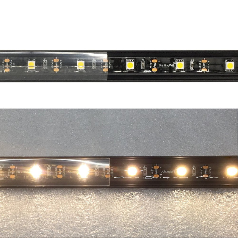 Black Corner LED Profile V01 16x16mm V-Shape Vertical Angle Cover Corner Mounting LED Aluminum Channel Extrusion