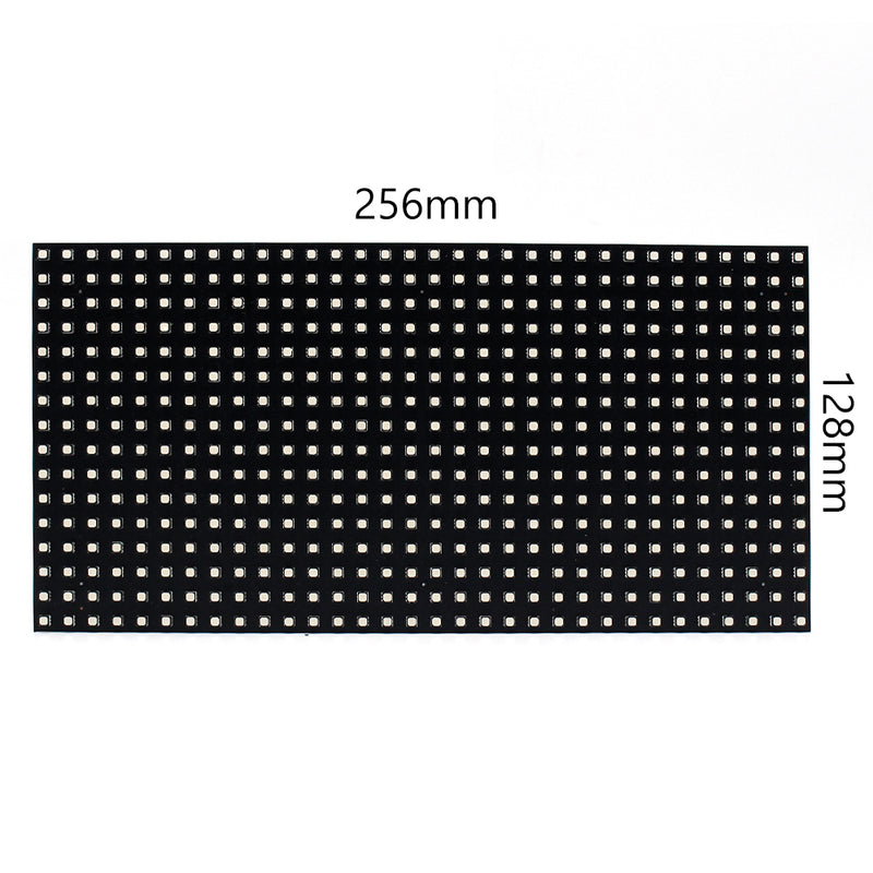 M-F8 (P8)Base Board LED Module, 8mm Full RGB Pixel Panel Screen in 256 * 128 mm with 512 dots, 1/8 Scan, 4500 Nits LED Tile for Indoor Display