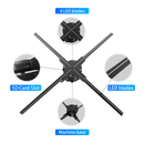 Free Shipping 65cm 720 LEDs 3D Hologram Display LED Fan WiFi App Controlled