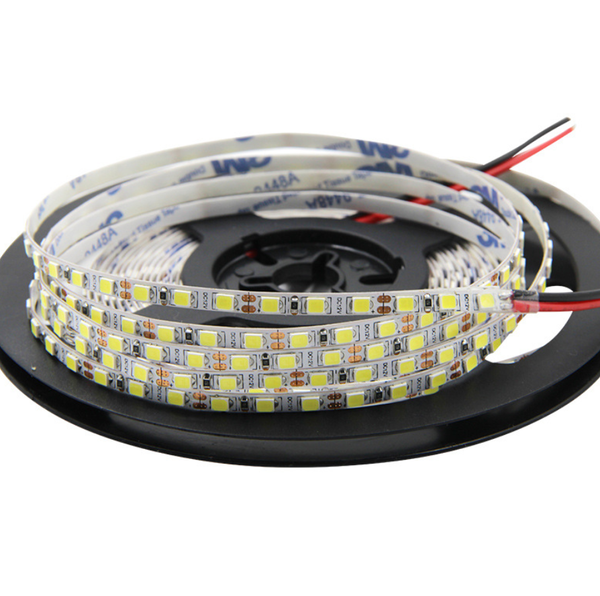 4mm Wide Super Slim DC 12V Dimmable SMD2835-600 Flexible LED Strips 10Watt/Meter 1000LM/M 120 LEDs Per Meter White FPCB Background  LED Tape Light