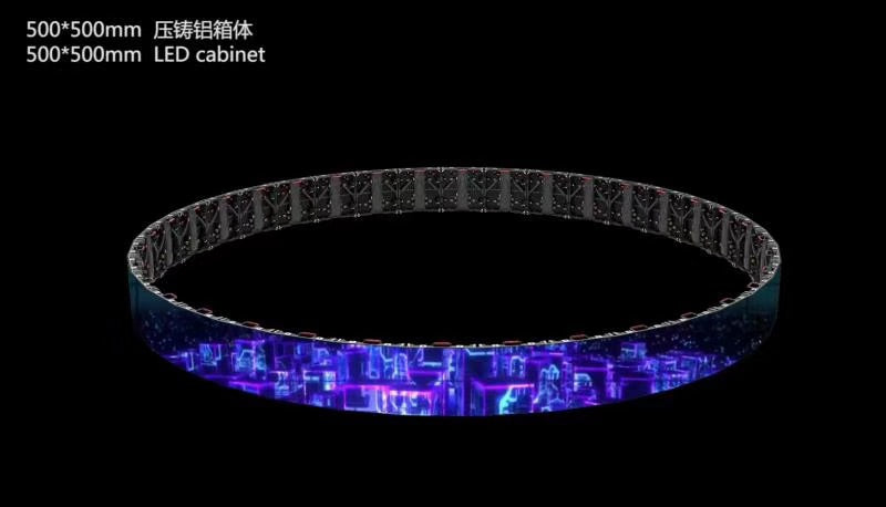 Tour Indoor Rental LED Display 1.95/2.6/2.9/3.9/4.8 mm Pixel Pitch in 500x500mm Aluminum Cabinet
