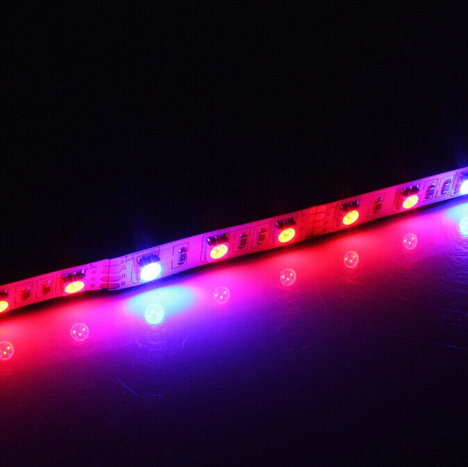 Plant Growth RED:BLUE /660nm:460nm  LED Grow Light  SMD5050 30LEDs 12V 7.2W Per Meter Strip