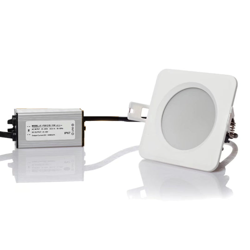 5W/7W/9W/12W/15W Waterproof IP65 CRI>80 Square LED Downlight for Shower, Suana and Outdoor Lighting