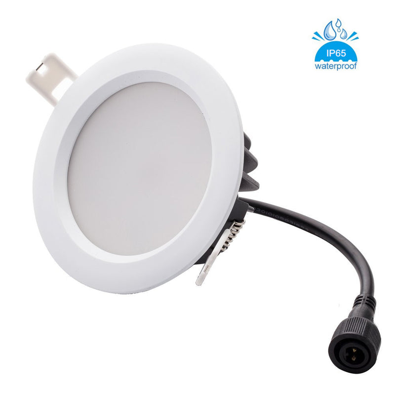 Waterproof IP65 CRI>80 Round LED Downlight Vapor Proof Fit for Shower, Suana and Outdoor Lighting