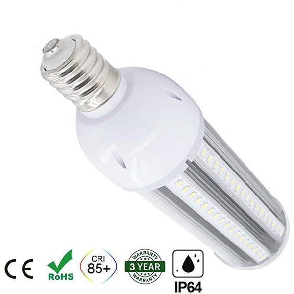 LED Corn Light Bulb, E39 Medium Screw Base, Metal Halide Replacement for Indoor Outdoor Large Area Lighting, Street and Area Light, HID, Hp