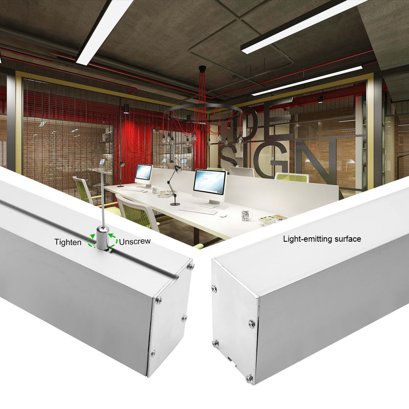 2 Pack H5075 Big Aluminum Extrusion Channel for Suspension Mounting Linear Office Lighting System