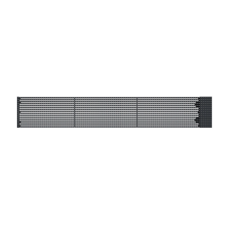oClear B Series Outdoor Waterpoof P15.6/15.6mm Transparent LED Mesh Display High Brightness 7500nits in Size 1500x250mm Aluminum Cabinet for Fixed Installation