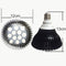 12W (12x1W) PAR38 LED Lamp with E27 Edison Screw Base 90W Equivalent 100-240V AC Black Housing Indoor Type