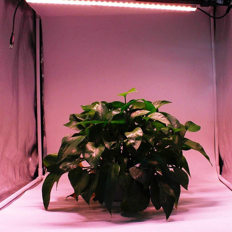 Hard LED Grow Light Strip with Full Spectrum LEDs, 36W IP65 Waterproof Dimmable LED Plant Grow Light Bar for Germination, Growth and Flowering, with 12V/3A Power Supply, Set of 3, All in Kit