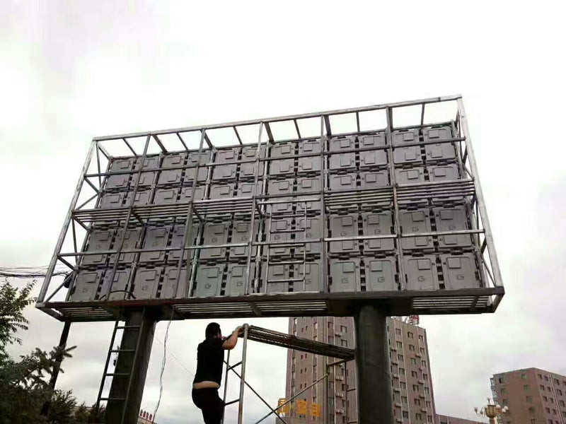 oF-S Series Outdoor Fixed LED Display Screen 5000nits Brightness in Pixel Pitch 4 | 5 | 6 | 6.7 | 8 | 10 mm in 960x960mm Standard Metal Sheet Cabinet Waterproof IP65 Rated