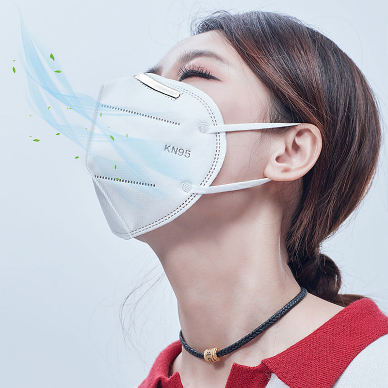 10Pack of KN95 Face Masks, Multi-Ply Cotton Filter Medical Sanitary for Dust, Germ Protection