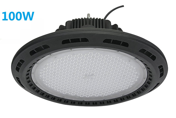 Free Shipping 100W UFO LED High Bay Light Fixture 9000LM CRI>80 IP65 Waterproof 100-277VAC Non-Dimmable for Warehouse & Supermarket