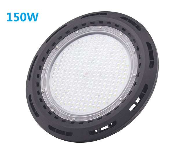 Free Shipping 150W UFO LED High Bay Light Fixture 13000LM CRI>80 IP65 Waterproof 100-277VAC Non-Dimmable for Warehouse & Supermarket