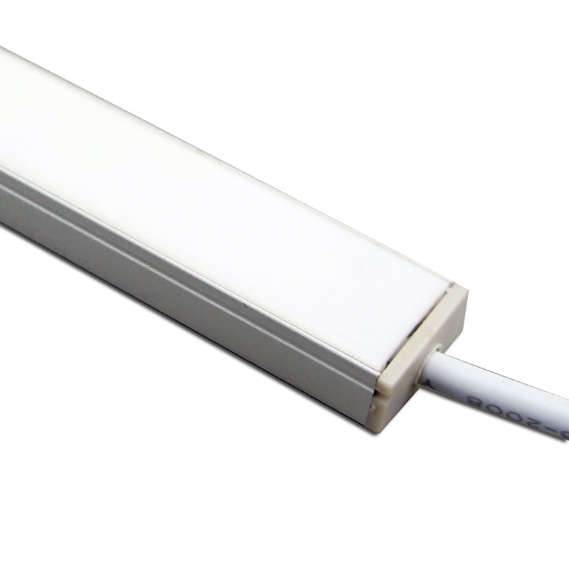 5 / 10 Pack 12V DC LED Surface Linear Profile LED Light Strip in Aluminum Profile with Cover for Under Cabinet Lighting