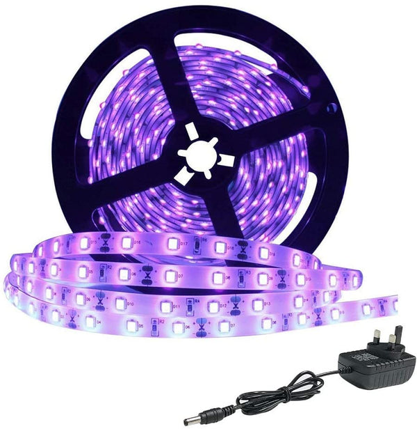 (FREE PRODUCT QTY.: 10)16.4FT 24 Watts UV Black Light LED Strip