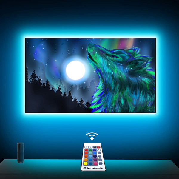 (FREE PRODUCT QTY.: 20)3.3Ft TV LED Backlights, RGB LED Strip Lights kit with Remote and USB Powered