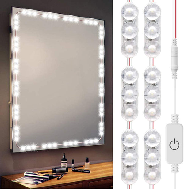 (FREE PRODUCT QTY.: 5) 10Ft LED Make UP Lights Daylight White Waterproof for Vanity Mirror Lighting