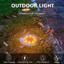 (FREE PRODUCT QTY.: 10)Solar Ground Lights OutdoorWaterproof IP65 (8 Pack Warm White)