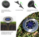 (FREE PRODUCT QTY.: 5) Outdoor Solar Ground Landscape Light with Sensor Warm White (10-Pack)