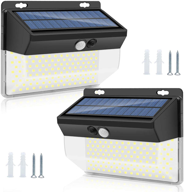 (FREE PRODUCT QTY.: 10)Solar Lights Motion Sensor, 262 LEDs Outdoor Lights , (2 Pack)