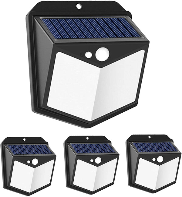 (FREE PRODUCT QTY.: 20) Solar Wall Lights Outdoor, 140 LED Motion Sensor Backyard Light (4Pack)