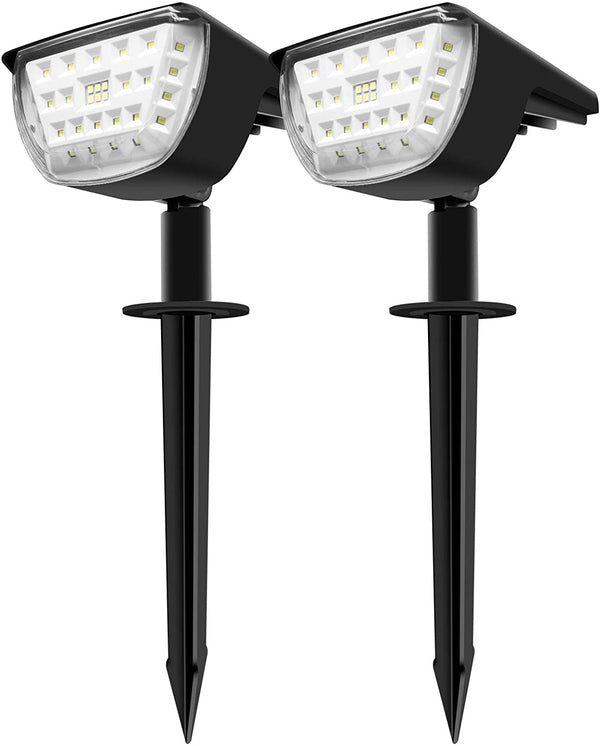 (FREE PRODUCT QTY.: 30) Warm White 32 Wireless LEDs Outdoor Solar Landscaping Lights (2 Pack)