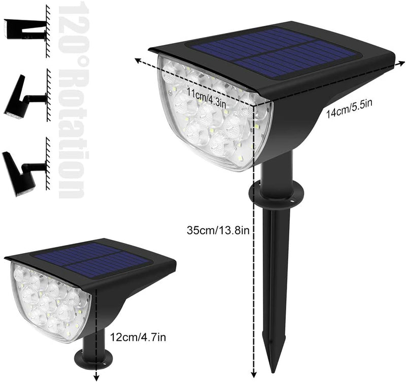 (FREE PRODUCT QTY.: 20) Daylight White 30 LED Wireless Outdoor Solar Landscaping Lights (2Pack)