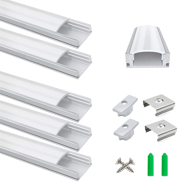 (FREE PRODUCT QTY.: 10) 3.3ft/1Meter LED Aluminum Channel 5-Pack LED Aluminum Profile