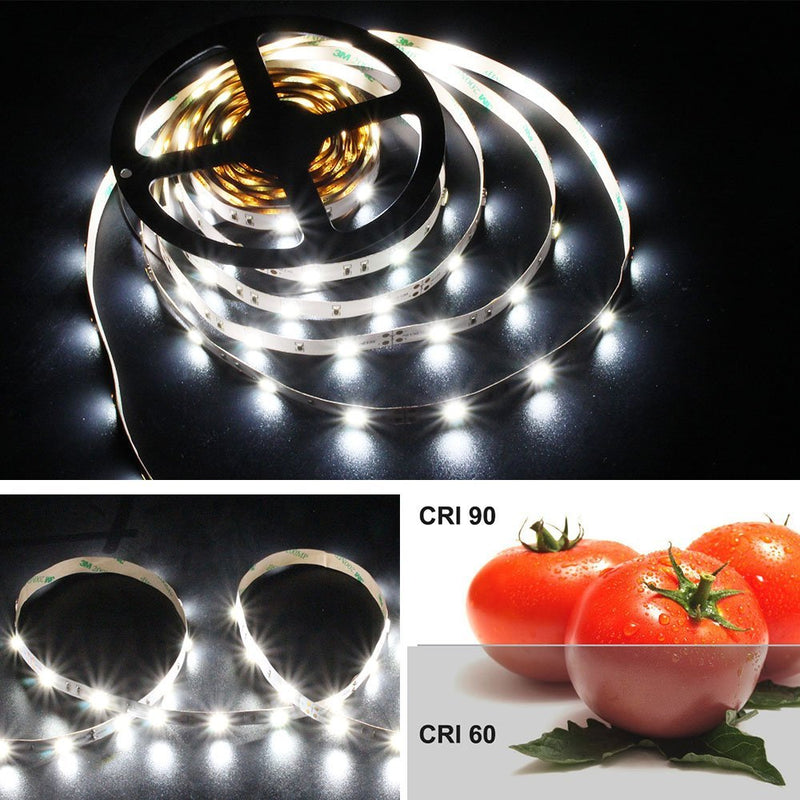 High CR I> 90 DC 12V Dimmable SMD5050-150 Flexible LED Strips 30 LEDs Per Meter 10mm Width 450lm Per Meter