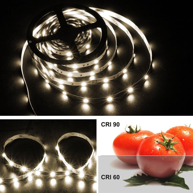 High CRI 90 LED strip, 5Meter Roll SMD5050-150 30 LEDs 450lm Per Meter 12V LED Strip Light,10mm Wide Tape