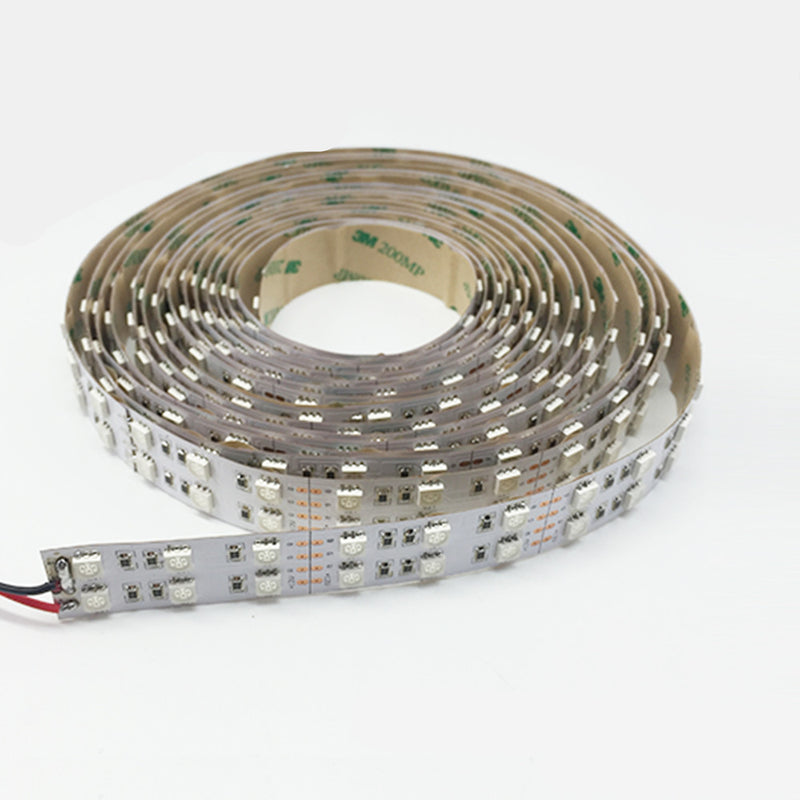 High CRI >90 DC 12V Dimmable SMD5050-600 Double Row Flexible LED Strips 120 LEDs Per Meter 15mm Width 1800lm Per Meter