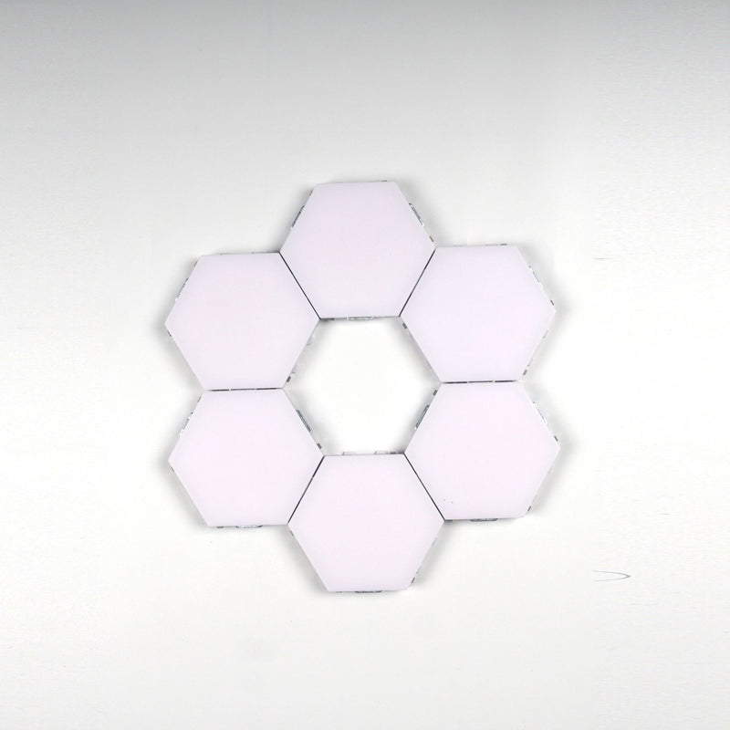 Free Shipping 6 Pack Hexagonal LED Wall Light, DIY Modular Touch Sensitive Lights LED Night Light