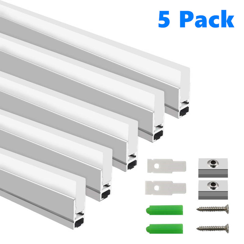 5Pack 3.3ft/1M RGB LED Light Bar Kit Hanging Crystal Linear Light w/ 6mm RGB LED Strip inside