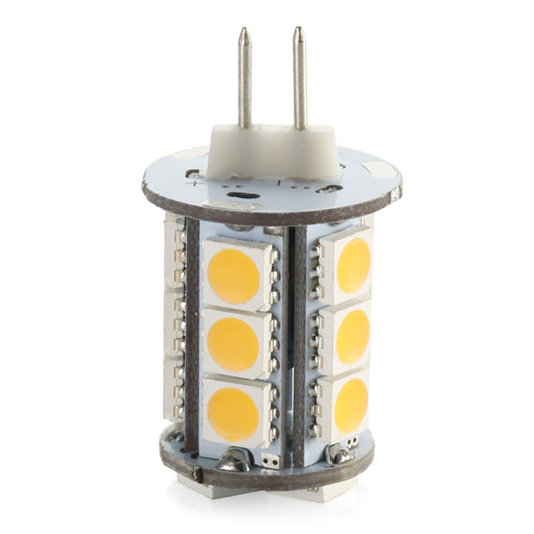 4 Pack 3.6 Watt (40Watt Equivalent) DC12V Tower type G4 Bi-pin base Lamps with 18 pcs Tri-Chip LED SMD5050