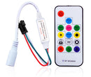 Mini LED Controller 17 Key RF Wireless Remote Pixel SPI Controller for Addressable Dream Color RGB LED Lights DC5-24V