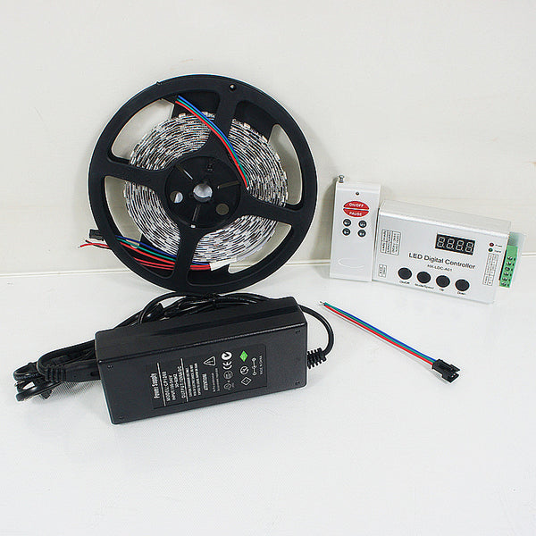 12VDC TM1914 IC Controlled Dream Color 5050 RGB Pixel LED Strip Kit 5 meters with 60LEDs /Mtr