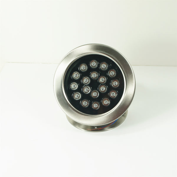 4 Pack 18W LED Under Water Light, Stainless Steel Housing, 190mm in Diameter, Single Color DC24V, IP68 Waterproof Fountain Light