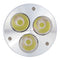 4Pack 3W(3x1W) 120V/220V AC LED Spotlight GU10 Bi-Pin Base LED Light Bulb Aluminum Housing 30° Beam Angle