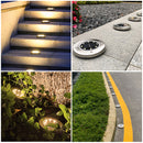 6 pack Solar Garden Light Outdoor 8 LED In-Ground Landscape Lighting for Lawn Patio Pathway Yard