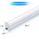 FREE SHIPPING 10Pcs Pack /2FT/3FT/4FT/5FT Line Voltage AC T5 LED Tube Light with Milky White cover