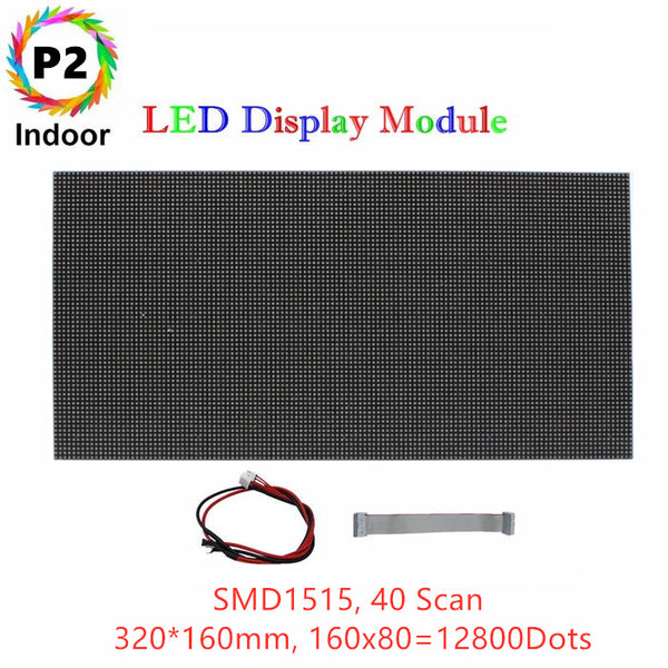 M-HD2L High Definition P2 (2mm) Small Pixel Pitch Indoor LED Module,Full RGB Pixel LED Tile in 320*160mm with 12800 dots, 1/40 Scan, 800 Nits for indoor Display