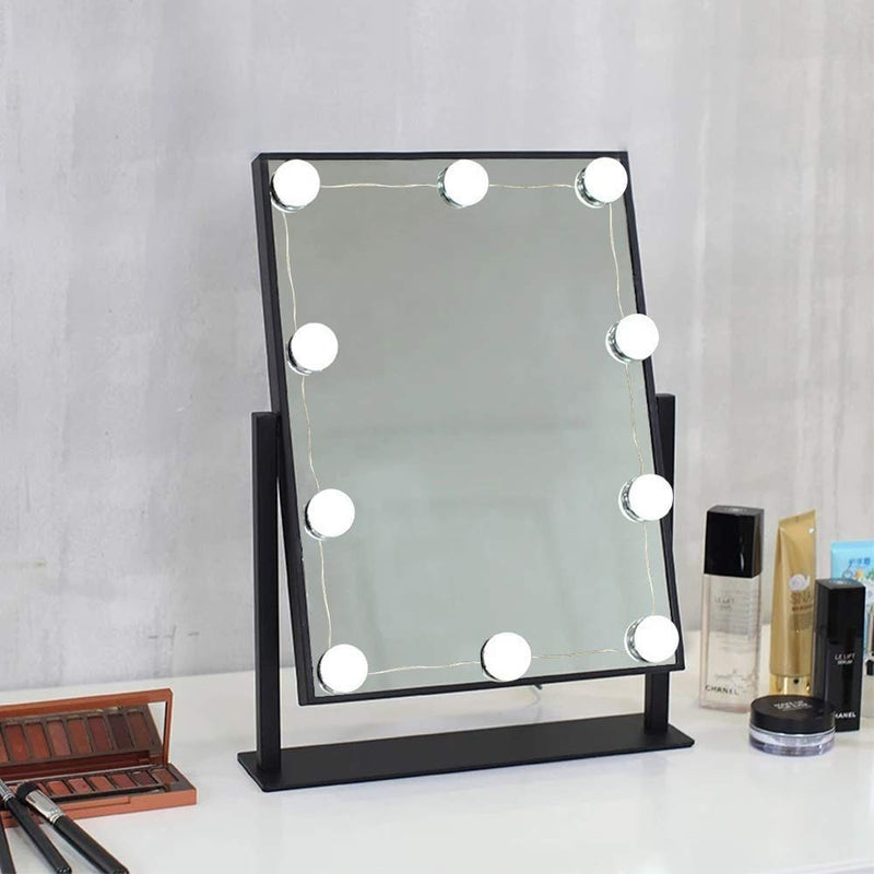 Hollywood Style LED Vanity Mirror Lights Kit with 10 Dimmable Medium Size Light Bulbs, Perfect for Makeup Vanity Table Set in Dressing Room