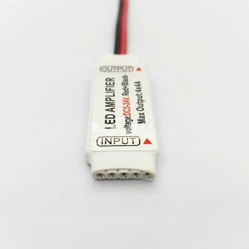 Mini RGBW Amplifier 4 Channel for 12V or 24V RGBW / RGBWW Color LED Flexible Strip Lights