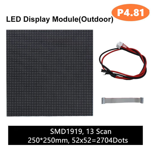 M-OD4.8 (P4.8) Rental Outdoor LED Module, Full RGB 4.81mm Pixel Pitch LED Tile in 250 * 250mm with 2704 dots, 1/13 Scan, 5000 Nits For Outdoor Display