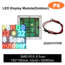M-OD6 P6 Normal Outdoor Series LED Module, Full RGB 6mm Pixel Pitch LED Tile in 192*192mmwith 1024 dots, 1/8 Scan, 5000 Nits for Outdoor Display